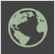 Icono que describe métodos sostenibles con el medio ambiente